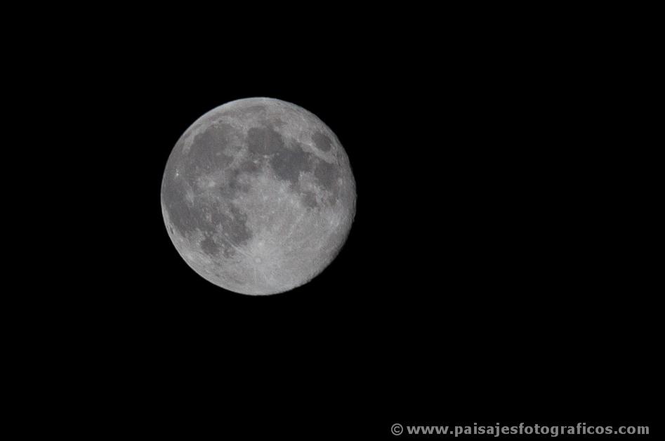 Luna llena desde Madrid