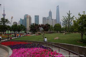 Pudong desde el distrito francés