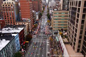 Maratón de Nueva York desde el Tram
