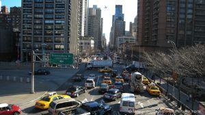 Llegando en el Tram a Manhattan